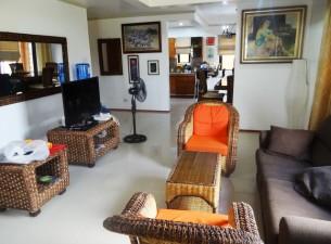 brown house livingroom