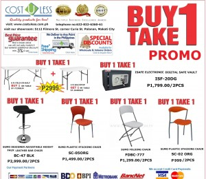 JUNE 22, 2015-BUY 1 TAKE 1 PROMO